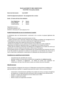MANAGEMENT DES SERVICES Fichier