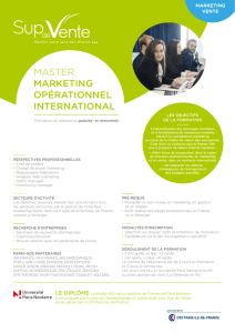 master marketing opérationnel international