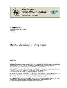 Marketing informationnel et contrôle du client