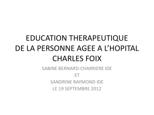 education therapeutique de la personne age a l`hopital