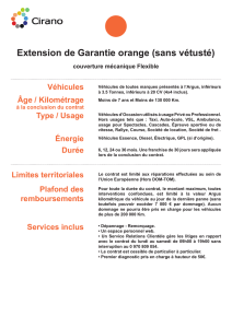 Garantie orange - Planète Auto Services