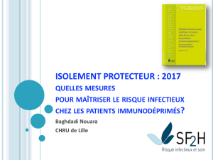 ISOLEMENT PROTECTEUR - CCLIN Paris-Nord