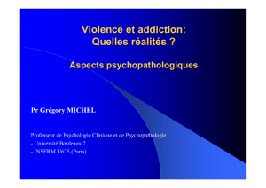 Violences et addiction