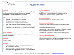 Devenir franchisé - Ypsum Consultants