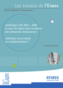 MBA 2008-2010 Nicolas BOUCQUEY Certification ISO vs