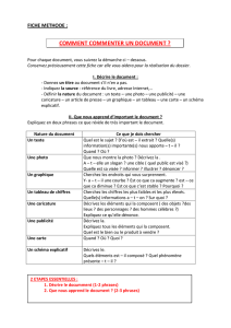 METHODE commenter un document - l`histoire
