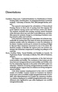 Dissertations - Canadian Bulletin of Medical History