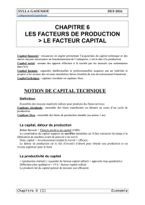Le facteur capital