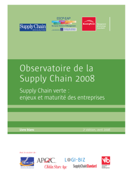 Observatoire de la Supply Chain 2008