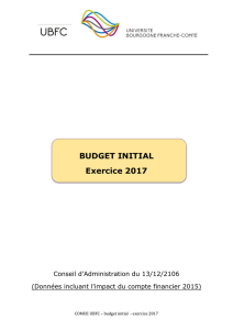 BUDGET INITIAL Exercice 2017