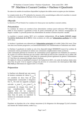 TP : Machine à Courant Continu + Hacheur 4 Quadrants