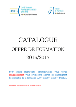catalogue de formation 2016-2017