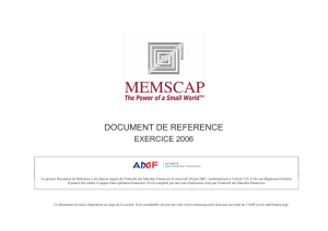 document de reference