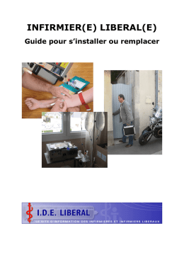 INFIRMIERE LIBERAL s`intaller, remplacer