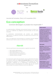 Eco-‐conception - ESCP Europe Alumni