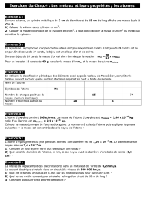 Exercices du Chap.4
