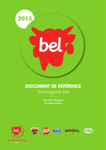 DOCUMENT DE RÉFÉRENCE Fromageries Bel