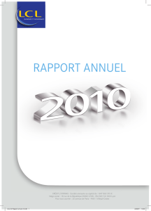 Rapport Annuel LCL 2010 - Info