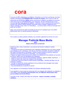 Manager Publicité Mass Media