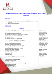 comment creer un systeme d`information marketing efficace