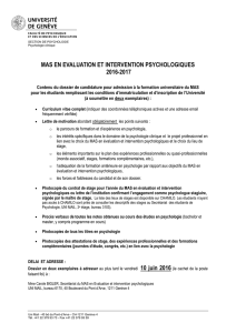 mas en evaluation et intervention psychologiques 2016-2017
