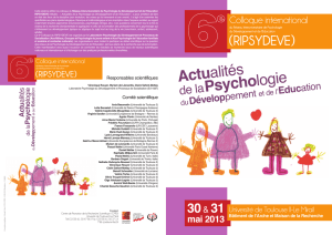 RIPSYDEVE 2013 - programme colloque