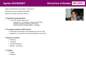 Agnes Ducrohet - GMV conseil Marketing