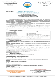 APPEL A CANDIDATURE MAC 2014 2015