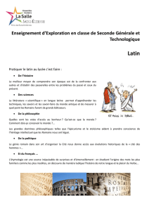 Enseignement d`exploration Latin