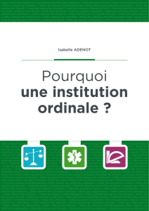 Pourquoi une institution ordinale