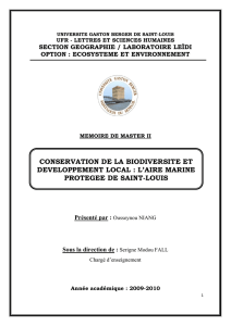 conservation de la biodiversite et developpement local : l