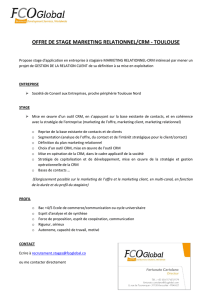 offre de stage marketing relationnel/crm - toulouse