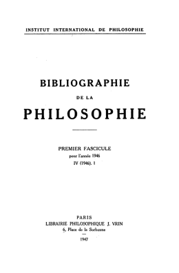 1946-1 - Institut International de Philosophie