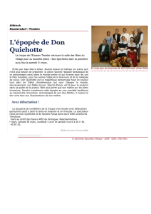 L`épopée de Don Quichotte
