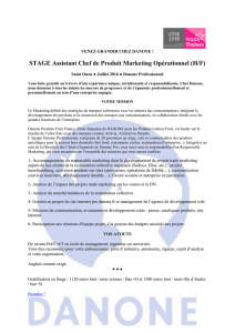 STAGE Assistant Chef de Produit Marketing Opérationnel (H/F)
