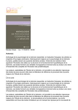 psychologie l1 cours pdf