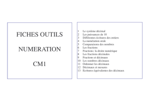 FICHES OUTILS NUMERATION CM1