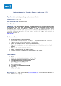 Assistant du service Marketing Groupe en alternance (H/F)