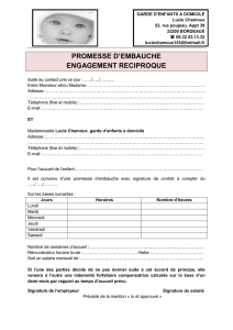 promesse d`embauche engagement reciproque