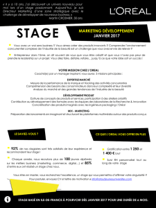 Stage Marketing Développement