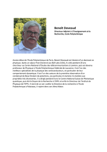 Biographie Benoit Deveaud