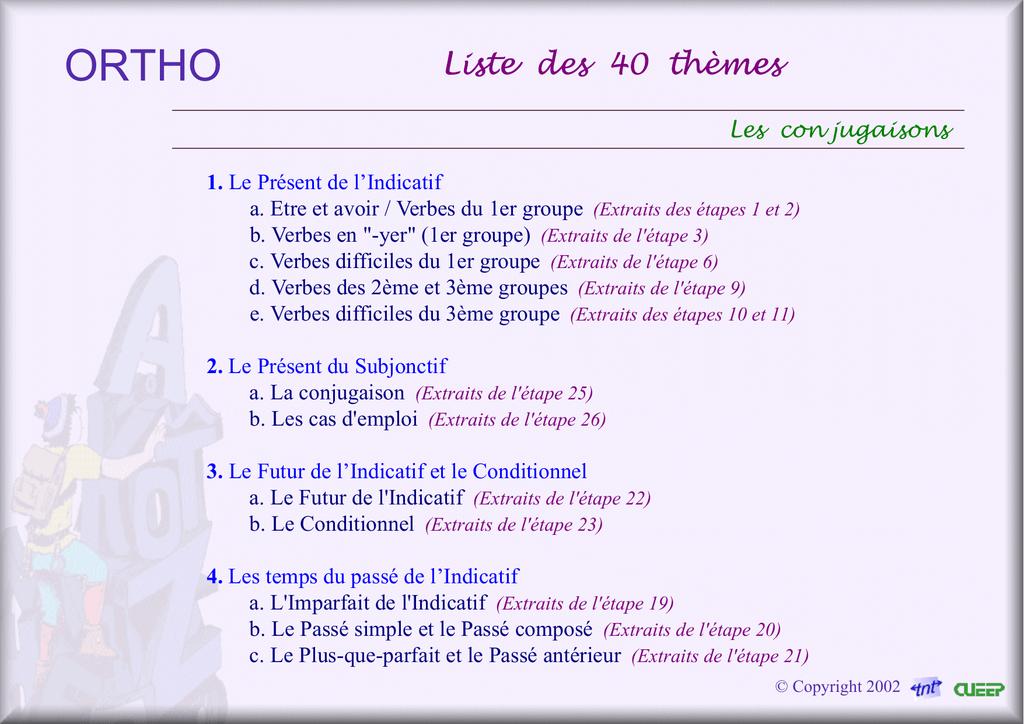 Liste Des 40 Themes