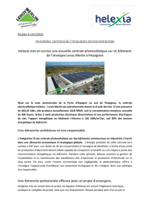 Immobilier commercial / Innovation environnementale Helexia met