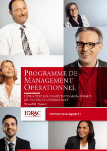 programme de management opérationnel