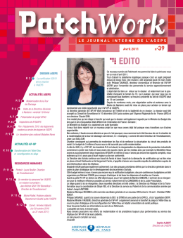 Patchwork-n°39 Avril 2011 - AGEPS