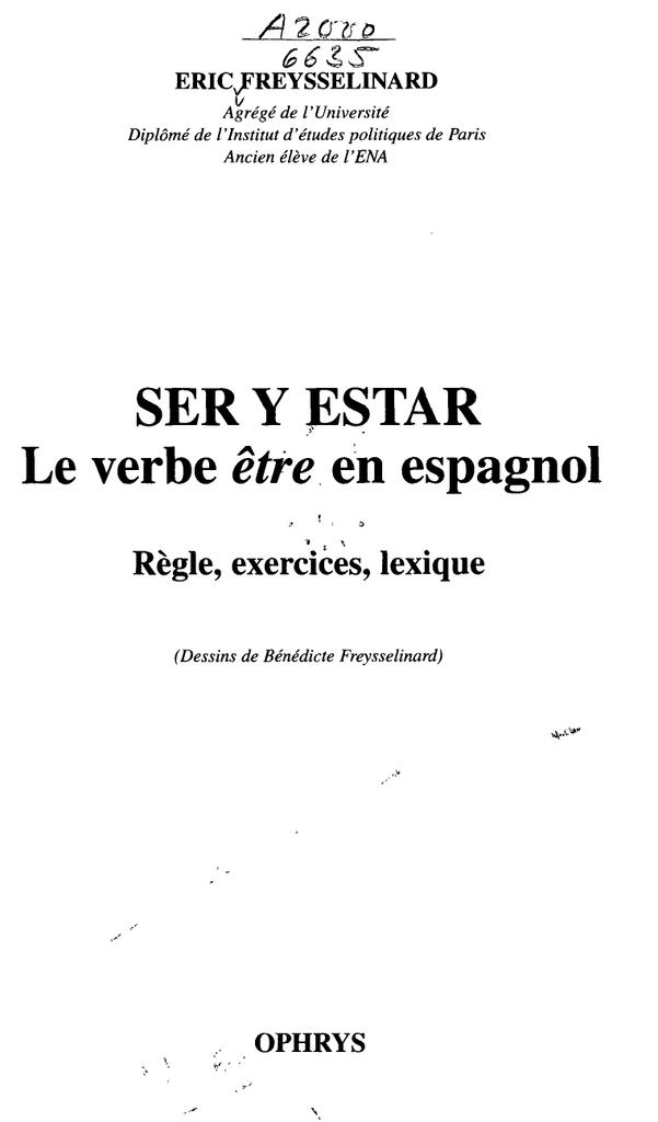 Ser Y Pstar Le Verbe Etre En Espagnol