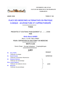 place des medecines alternatives en pratique clinique : acupuncture