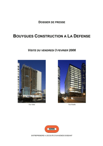 BOUYGUES CONSTRUCTION A LA DEFENSE