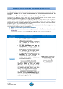 Délais de conservation des documents professionnels