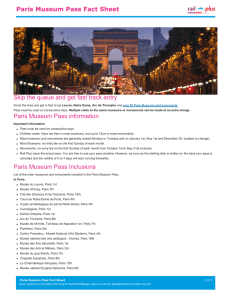 Paris Museum Pass Fact Sheet